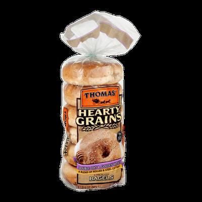 Thomas' Hearty Grains Pre-Sliced Bagels Double Oat & Golden Honey - 6 CT