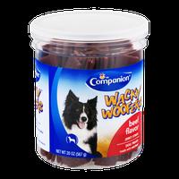 Companion Wacky Woofers Jerky Strips Beef