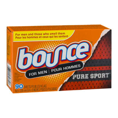 Bounce For Men Fabric Softener Sheets Pure Sport - 90 CT