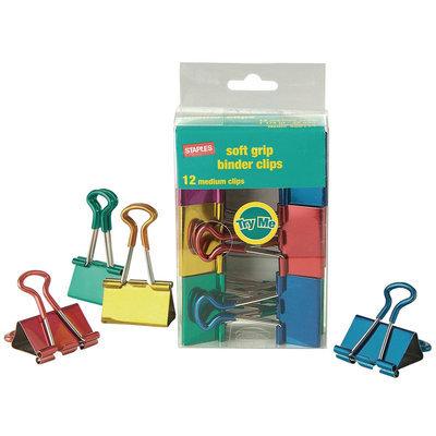 Staples Metallic Soft Grip Binder Clips