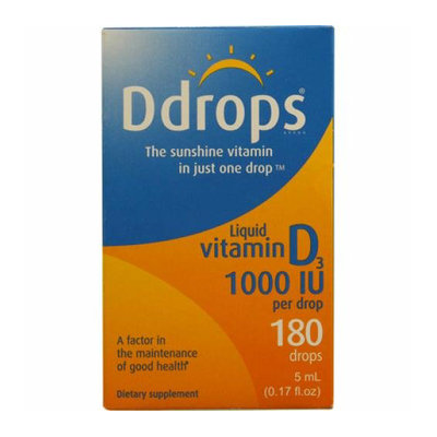 D Drops Liquid Vitamin D3 1000 IU 0.17 fl oz
