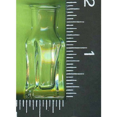 Astrodeals 10, Small, Mini Bottles, With, 10 , Corks, Square, Bottom, & Part, Of, 4 Sides, Glass Bottle,,21A4.3