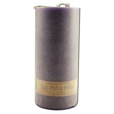 Eco Palm Wax Pillar Candle, Unscented, Violet, 6 Candles, Aloha Bay