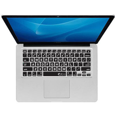 KB Covers Large Text Keyboard Protector LT-M-CB - Notebook keyboard protector - clear - for Apple MacBook Pro with Retin