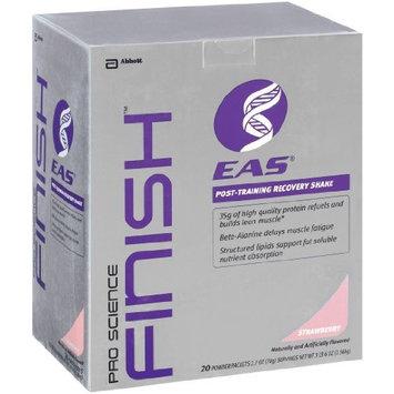 EAS Proscience Finish Nutrition Shake, Strawberry Powder, 20 Packets