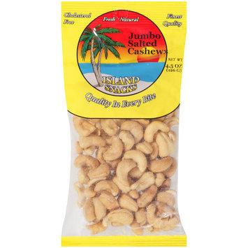 Island Snacks Jumbo Salted Cashews, 5 oz
