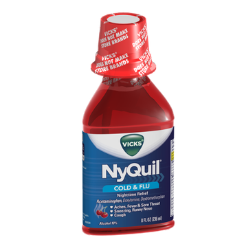 Vicks NyQuil Cold & Flu Nighttime Relief Cherry Flavor Liquid