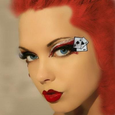 SummitFashions Queen of Hearts Xotic Eyes Make Up Las Vegas Showgirl Dancer