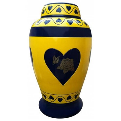 Urnporium URN-RHB-06105-BRA New Adult Brass Funeral Cremation Urn For Human Ashes