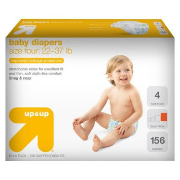 up & up Baby Diapers Bulk Size 4 156 ct