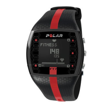 Polar FT7M Heart Rate Monitor, Red & Black, 1 ea