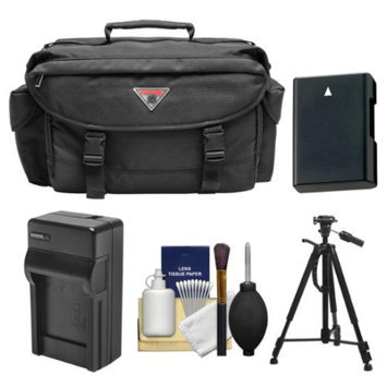 Precision Design 2000 Digital SLR Camera Case with Battery & Charger + Tripod + Kit for Nikon D3100, D3200, D5100, D5200, D5300