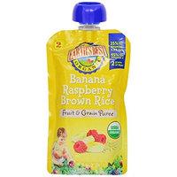 Earth's Best 2nd Foods Fruit & Grain - Banana Raspberry Brown Rice - 4.2 oz - 6 pk