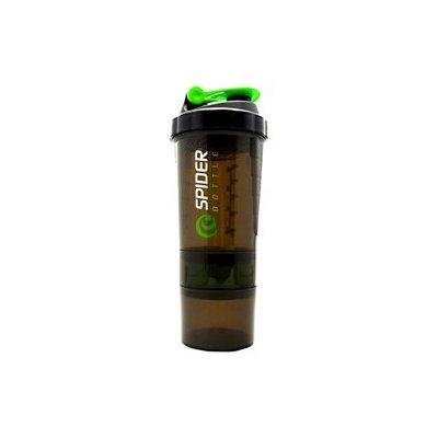 Spider Bottle - SpiderMix Mini2 Go Shaker Bottle Black/Green - 25 oz.