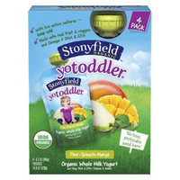 Stonyfield YoToddler Pouch Pear Spinach Mango 4pk 3.7oz