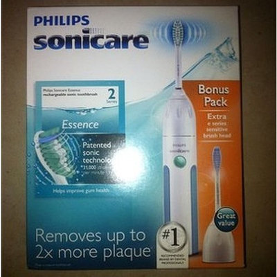 ESSENCE 2 SERIES Philips - Sonicare Essence Rechargeable Toothbrush with Bonus Replacement Toothbrush Head - White