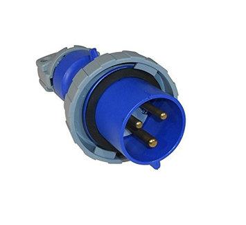 Thomas & Betts ABB Russelstoll ABB330P6W IEC Plug 30A 2 Pole 3 Wire 250V Pin & Sleeve