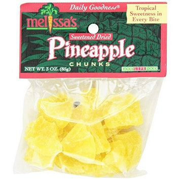 Melissa's Dried Pineapple Chunks, 3-Ounce Bags (Pack of 12)