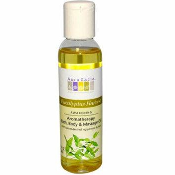 Aura Cacia Aromatherapy Bath Body and Massage Oil Eucalyptus Harvest 4 fl oz
