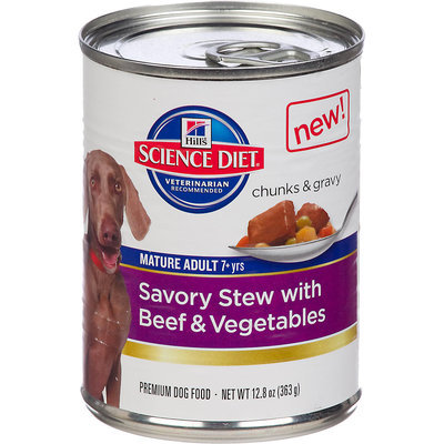 Hills Pet Nutrition Science Diet Savory Stew Beef Mature Can Dog Food