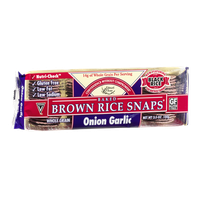 Edward & Sons Brown Rice Snaps Onion Garlic
