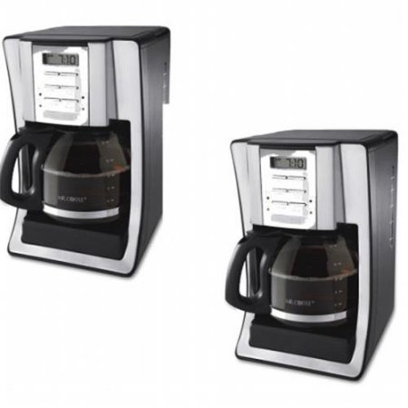 Classic Coffee Concepts BVMCSJX39 12-Cup Programmable Coffeemaker Black & Brushed Silver