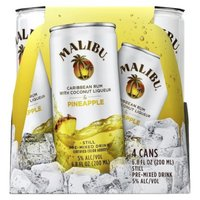 Malibu Caribbean Rum with Coconut Liqueur & Pineapple Still Pre-Mixed Drink