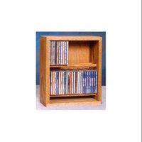 Wood Shed 12.25 in. Dowel CD Storage Rack (Dark)