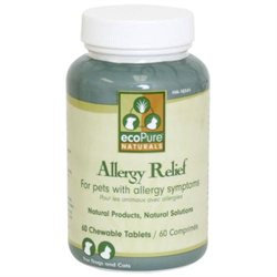 Ourpet's Company eco Pure Naturals Allergy Relief 60 Chewable Tablets Supplement