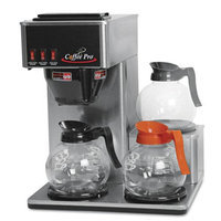 Coffee Pro Three-Burner Low Profile Institutional Coffee Maker, Stainless Steel