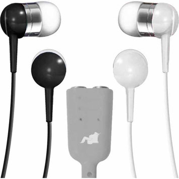 Maxell Earbuds with Splitter - Black/White