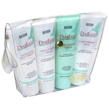 Masada DiabEase Hydrating Skin Therapy, Skin Calming Cream, Foot Therapy Cream, Callus Therapy Cream, 1 kit