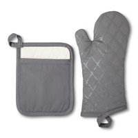 Threshold Simple and Extraordinary Potholder/Oven Mitt Set - Gray