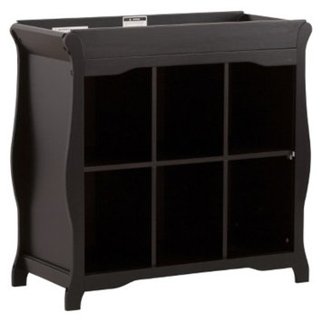 Stork Craft 6 Cube Organizer/Changing Table - Black