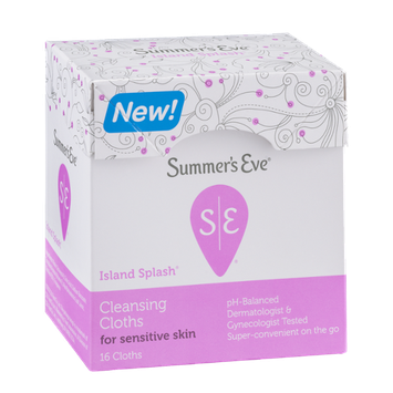 Summer's Eve Island Splash Cleansing Cloths for Sensitive Skin - 16 CT