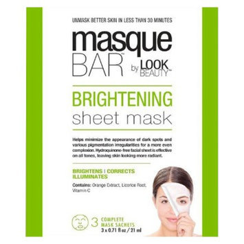 Masque Bar by Look Beauty Brightening Sheet Mask - 3 Mask Sachets