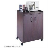 Muv Safco Products 8953MH Mahogany Mobile Refreshment Center