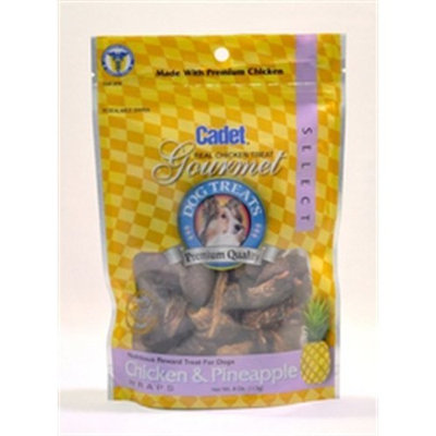 Cadet Chicken and Pineapple Treat for Dogs, 4-Ounce Bag