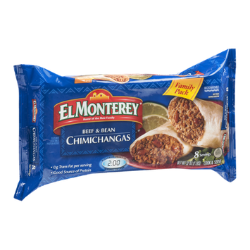 El Monterey Family Pack Beef & Bean Chimichangas - 8 CT