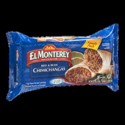 El Monterey Family Pack Beef & Bean Chimichangas - 8 CT