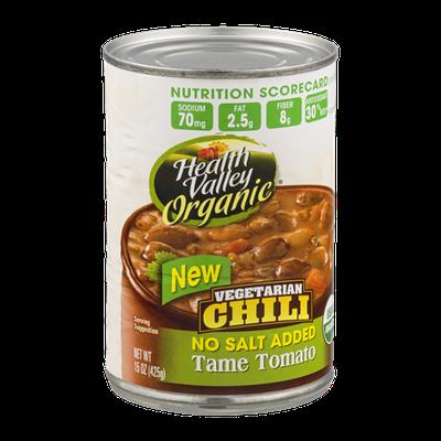 Health Valley Organic Vegetarian Chili Tame Tomato