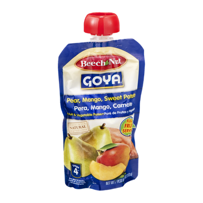 Beech-Nut Goya Stage 4 Fruit & Vegetable Puree Pear, Mango, Sweet Potato