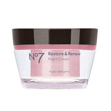 Boots No7 Restore & Renew Night Cream, 1.69 fl oz
