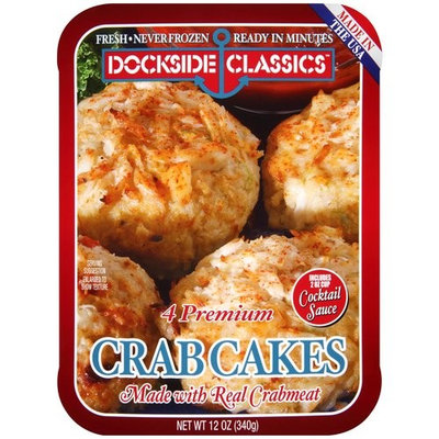 Dockside Classics Crab Cakes, 4 count, 12 oz
