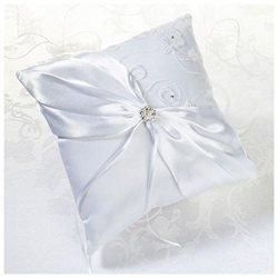 Lillian Rose White Lace & Flower Ring Bearer Pillow Women's
