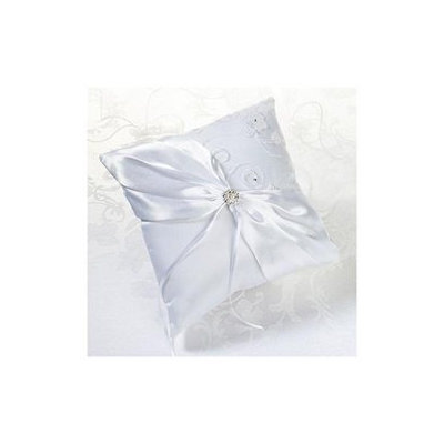 Lillian Rose White Lace & Flower Ring Bearer Pillow Women's