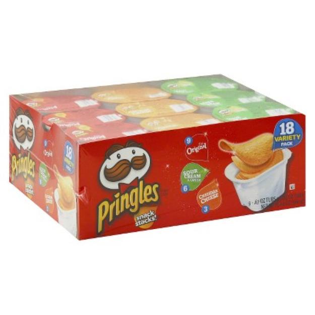 Pringles Snack Stacks Variety Pack Potato Chips 18 pk
