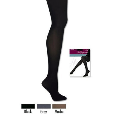 Hanes Silk Reflections Women's Opaque Tight [Grey, G/H]