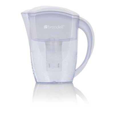 Brondell H2O+ Water Filtration Pitcher-6 Cup, White, 1 ea