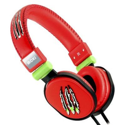 Moki ACCHPPOB Popper Over-the-Ear Headphones - Red (4MOK00559)